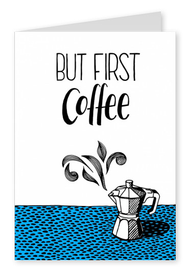 illustratie typografie Tatjana Buisson koffie machine