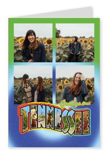 Large Letter Postcard Site Greetings from Tennessee