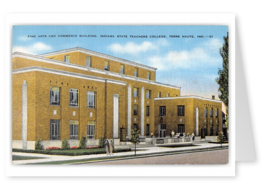 Terre Haute, Indiana. Fine Arts and Commerce building, Indiana State teachers college