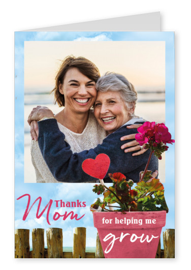 GREETING ARTS Thanks mom for helping me grow