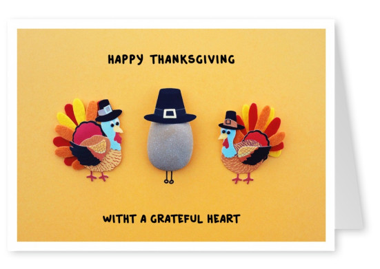 Illustration Thankgsgiving dindes, chapeau de pèlerin