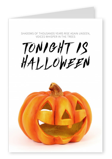 quote card Tonight is Halloween