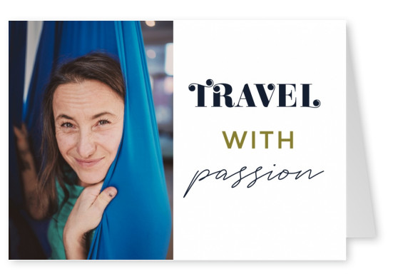 postcard saying Travel with passion