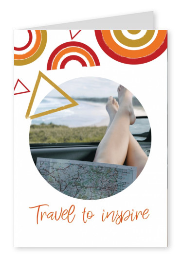 postcard saying Travel to inspire