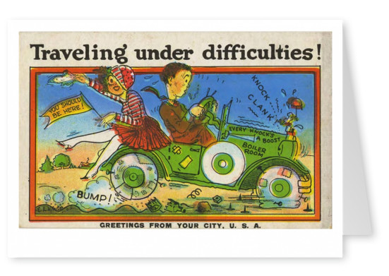 Curt Teich Postcard Archives Collection Traveling under difficulties