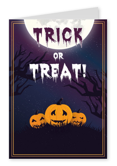 Trick or treat with pumpkins