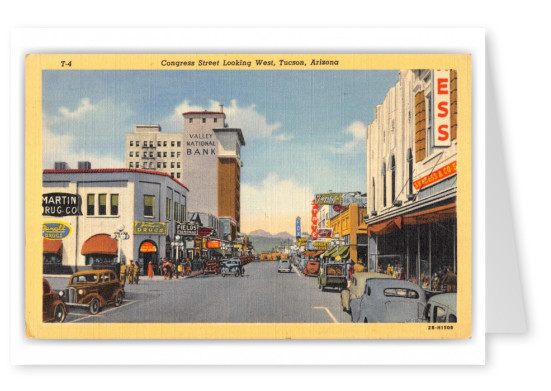 Tucson, Arizona, Congress Street looking west
