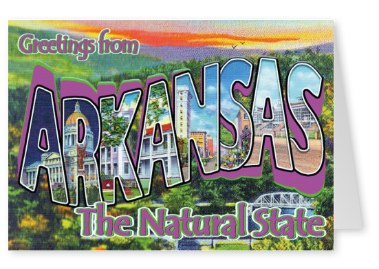 vintage greeting card Arkansas
