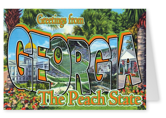 Georgia vintage greeting card