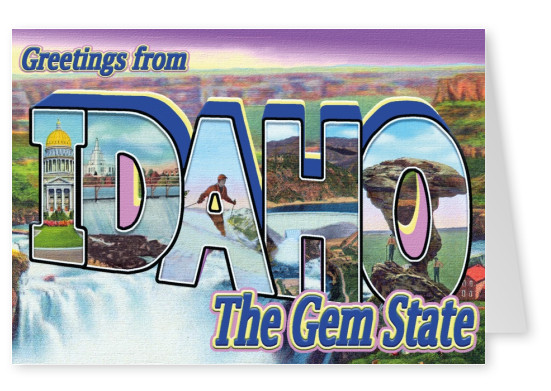 vintage greeting card Idaho