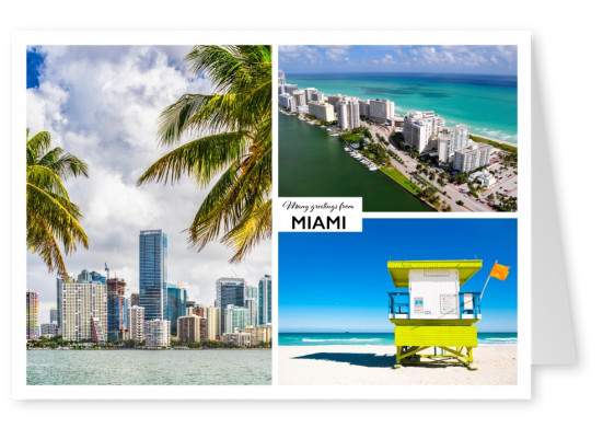 Three photos of miami