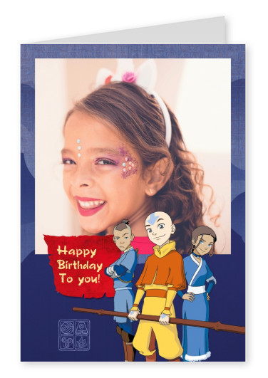 AVATAR: The Last Airbender postcard A very Happy Birthday To you