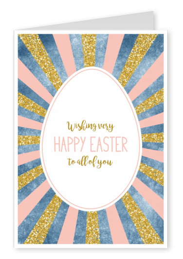 card with glitter and easter egg
