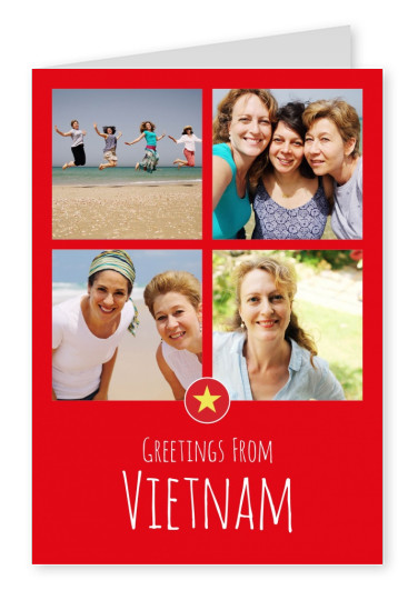postcard Greetings from Vietnam