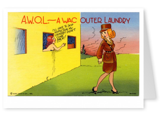 Curt Teich Postcard Archives Collection  A Wac outer laundry