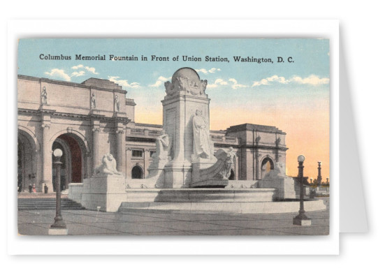 Washington DC, Columbus Memorial Fountain, Union Station