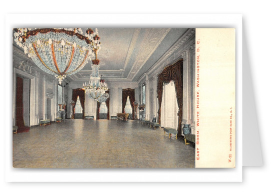 Washington DC, east room, White House