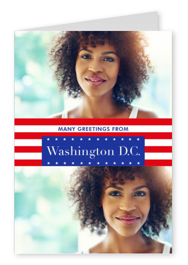 Washington DC greetings US-flag