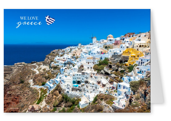 greece postcard mypostcard design