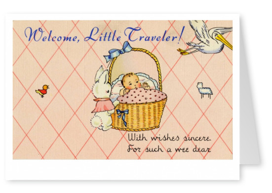 Curt Teich Postcard Archives Collection Welcome, little travelerA Wac outer laundry