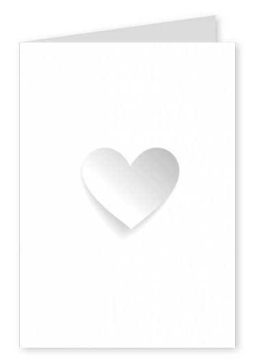 white postcard heart