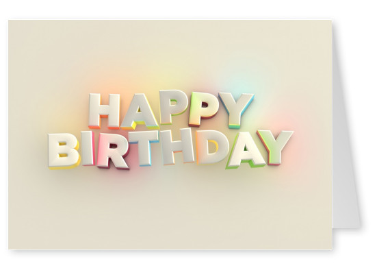 happy birthday postcard design