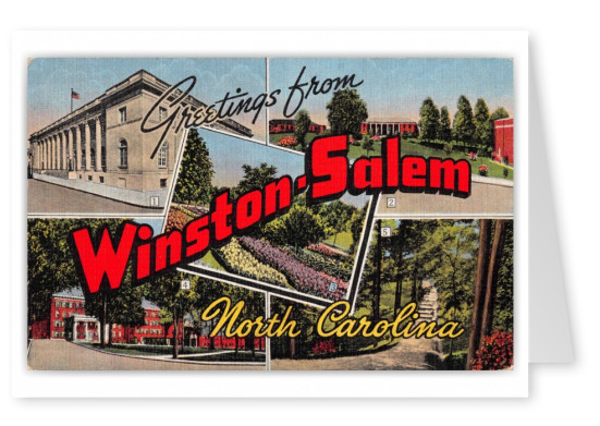 Winston Salem North Carolina Greetings Large Letter