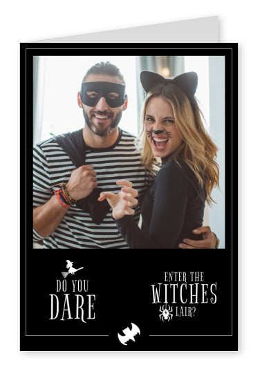 quote card Do you dare enter the witches lair?