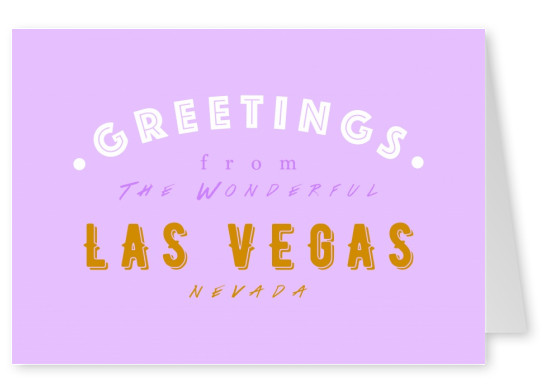 Wonderful las vegas vacation greeting cards send real postcards greetings from the wonderful las vegas m4hsunfo