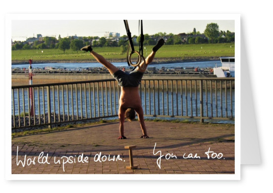 postcard World upside down. You can, too.