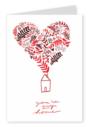 card saying you are my home