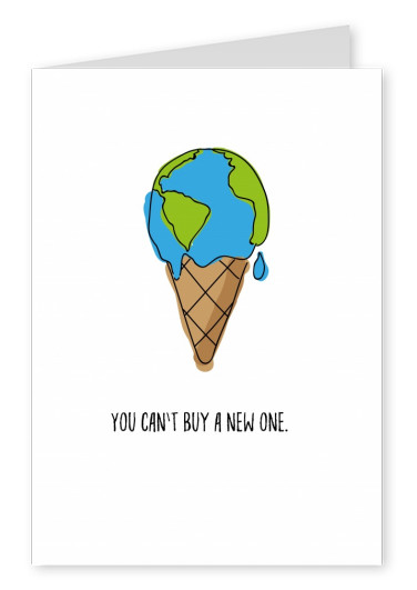 card with earth-ice-cream on it