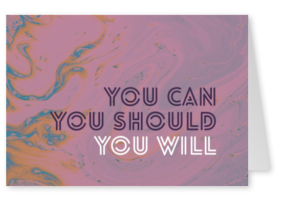 You can. You should. You will