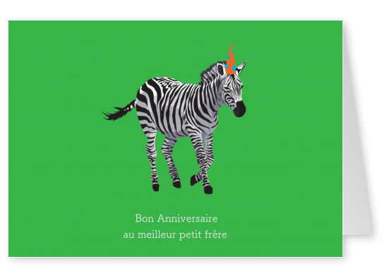 Birthday card with Zebra