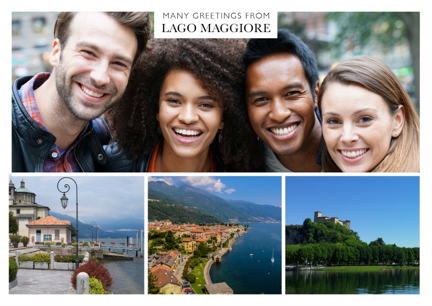 triple photocollage of lago maggiore