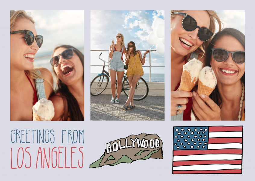 template with illustrations from Los Angeles