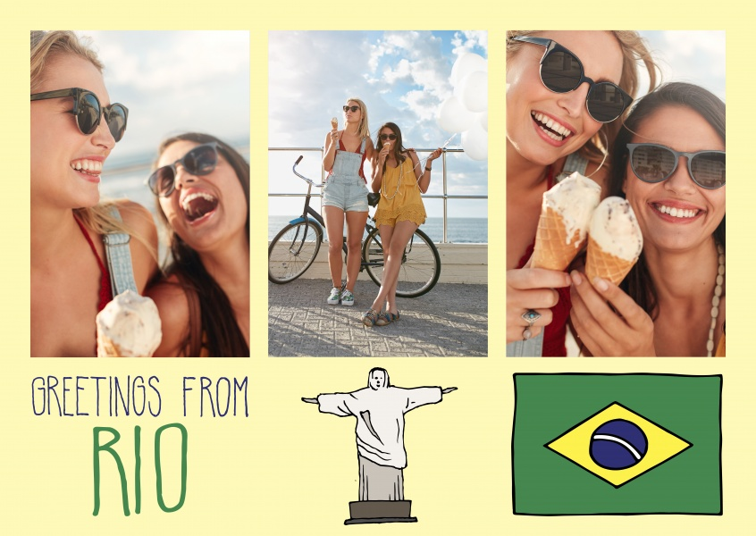 template with illustrations from rio