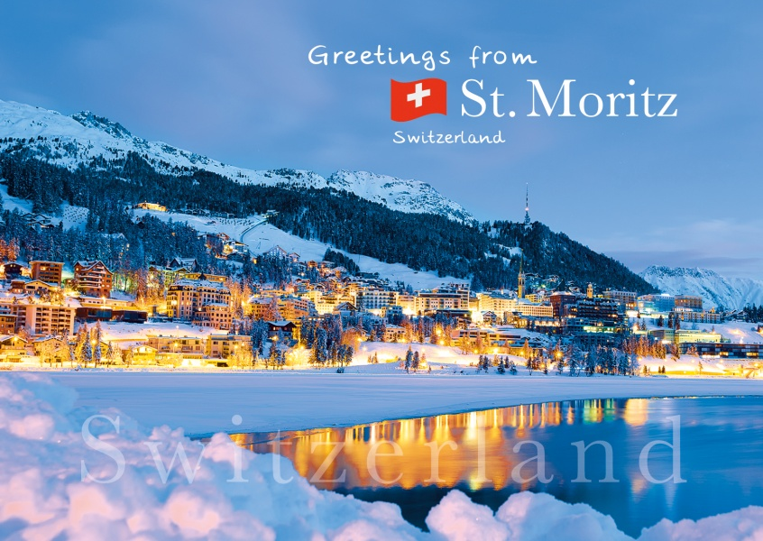St. Moritz postcard winter night