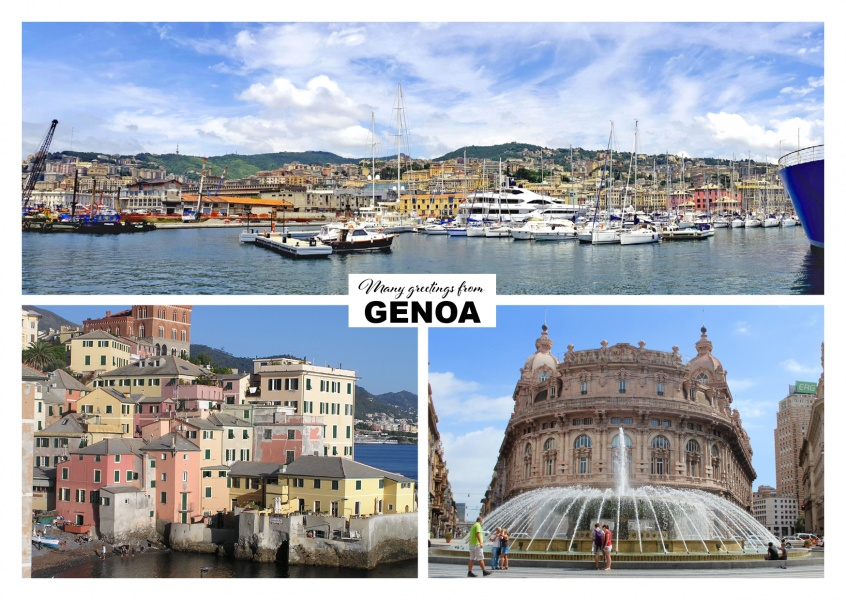 Genua dreierfotocollage