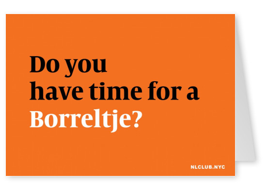 Do you have time for a Borreltje?