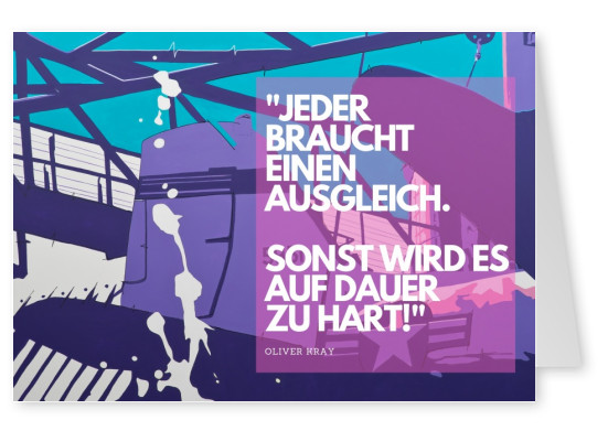 motivations spruch auf postkarte