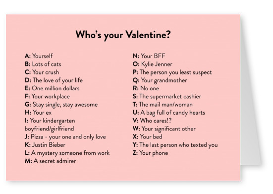 Who's your Valentine?