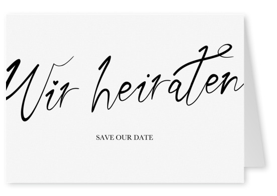 Wir heiraten Save our date