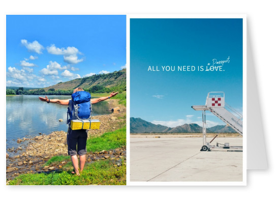 Spruch All you need is a passport