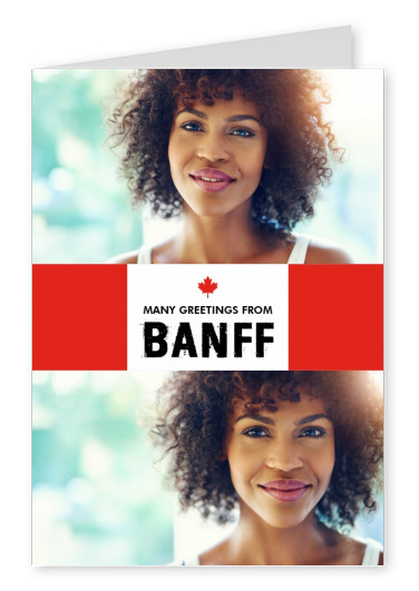 Banff Grüsse in kanadischem Flaggendesign