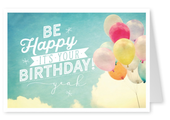 Postkarte SegensArt Be Happy It's Your Birthday