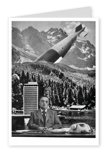 Belrost surrealistische Collage Bürotapete