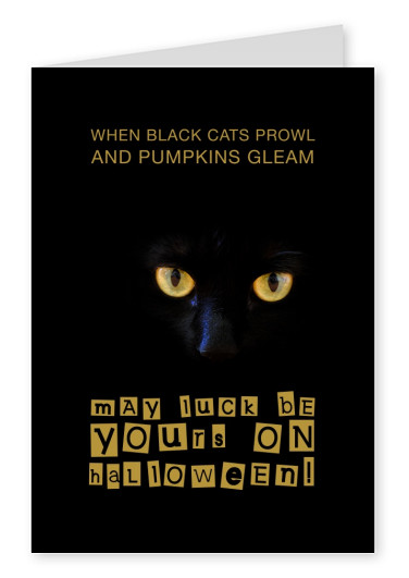 Spruch Karte When black cats prowl and pumpkins gleam