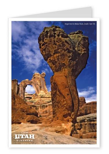 Angel Arch and Molar Rock Canyonlands