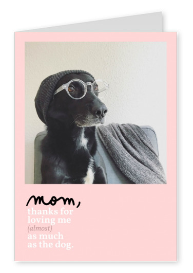 Mom, thanks for loving me almost as much as the dog!